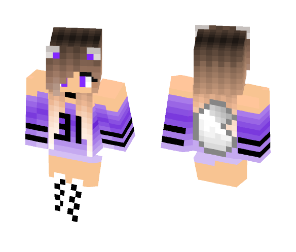 Download Cool football Wolf Girl Minecraft Skin for Free