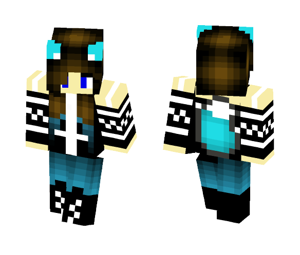 Download Cute Teal Wolf Girl Minecraft Skin For Free Superminecraftskins