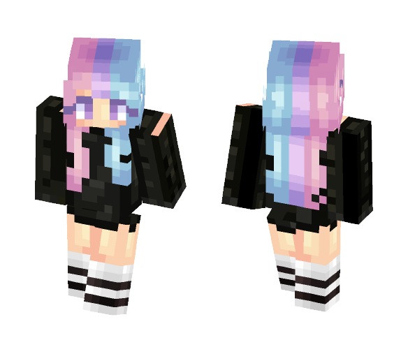 cotton candy hair - Female Minecraft Skins - image 1