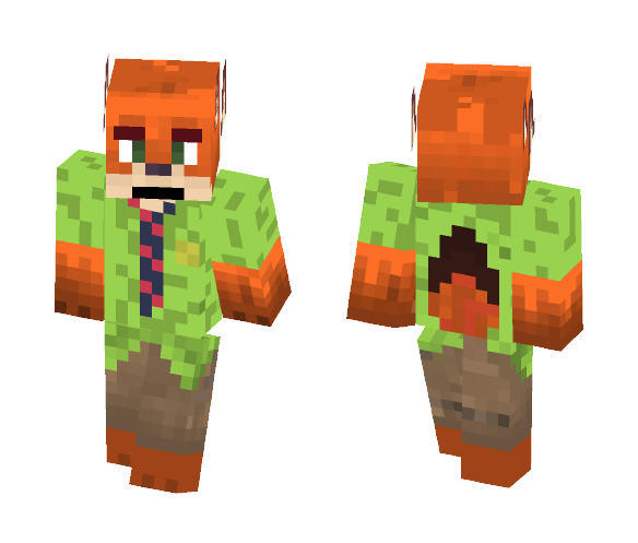 Download Nick Wilde (Zootopia) Minecraft Skin For Free
