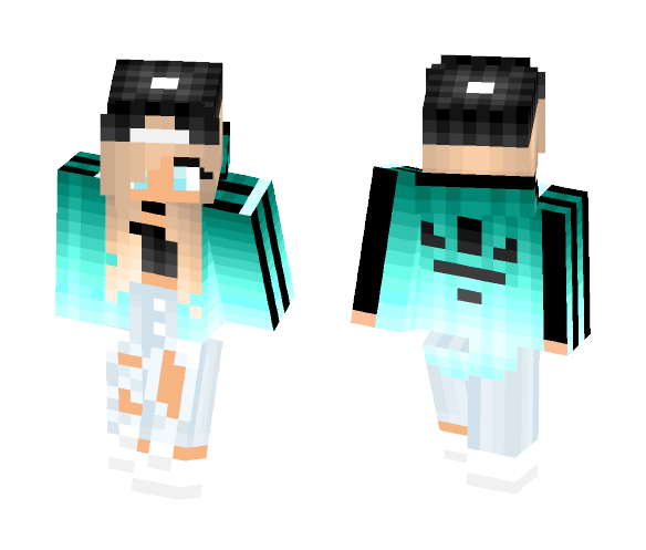 Download Cute Adidas Girl Minecraft Skin For Free