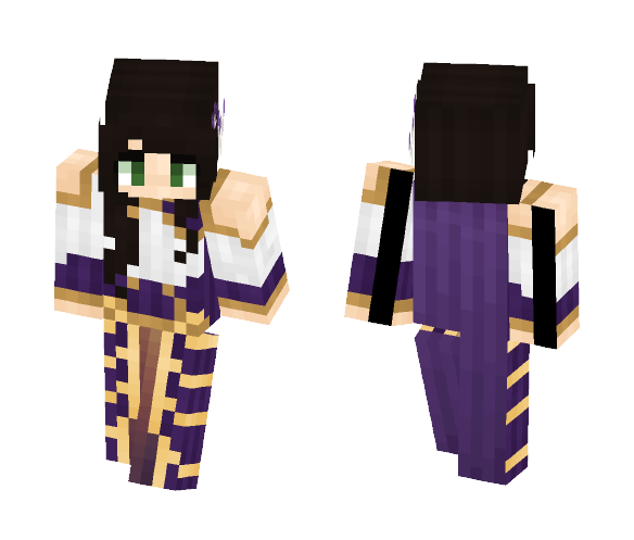 ⊰ Purple Noble Woman ⊱ - Female Minecraft Skins - image 1