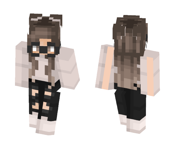 Nerdy Girl - Girl Minecraft Skins - image 1