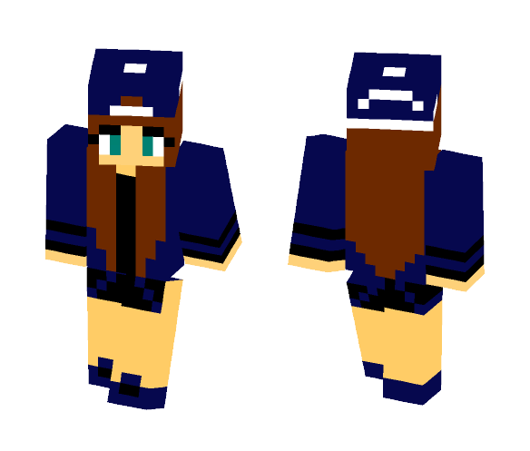 Blue Hat girl - Female Minecraft Skins - image 1