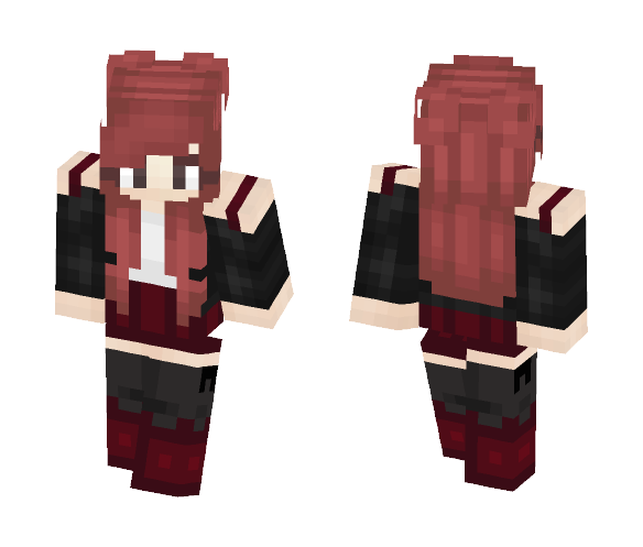 Red Punk Girl - Female Minecraft Skins - image 1