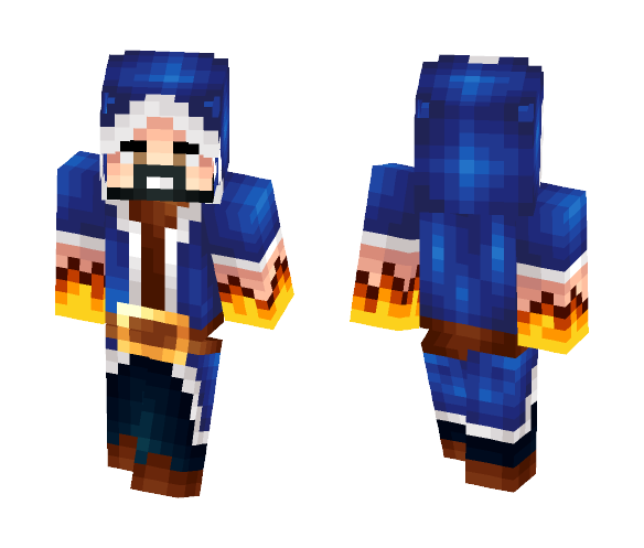 Download Fire Mage of Clash Royale Minecraft Skin for Free