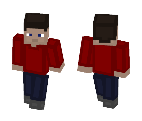Red Shirt Guy - Male Minecraft Skins - image 1