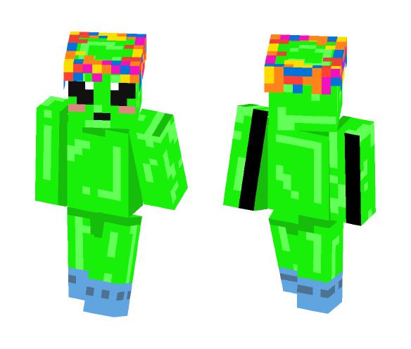 Alien w/ Socks and Flower Crown - Flower Crown Minecraft Skins - image 1