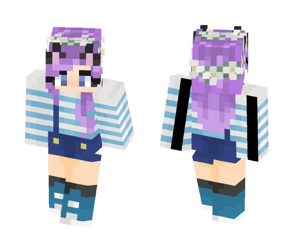 Lavender Flowers - Female Minecraft Skins - image 1