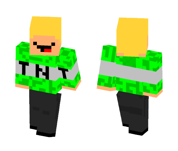 Green TNT Man - Male Minecraft Skins - image 1