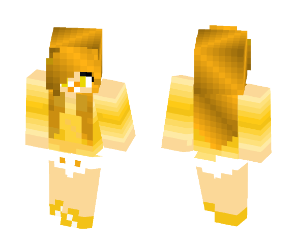 The Legendary Golden Baby Girl - Baby Minecraft Skins - image 1