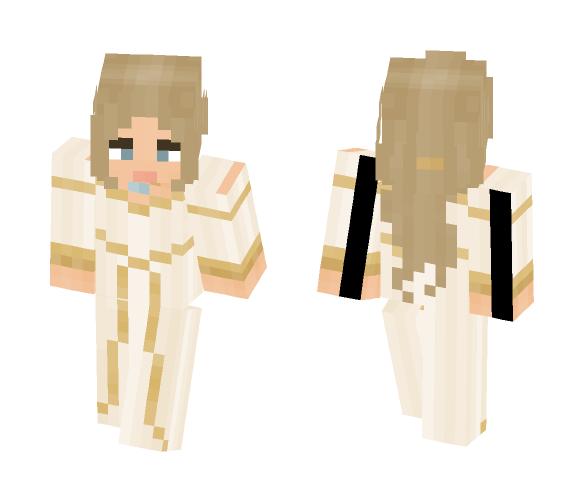 [LOTC] White Wedding Gown - Female Minecraft Skins - image 1