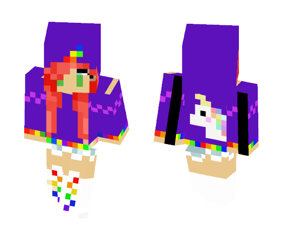 Download Unicorn girl Minecraft Skin for Free
