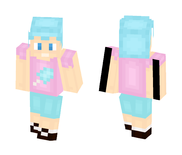 Cotton Candy Boy - Boy Minecraft Skins - image 1