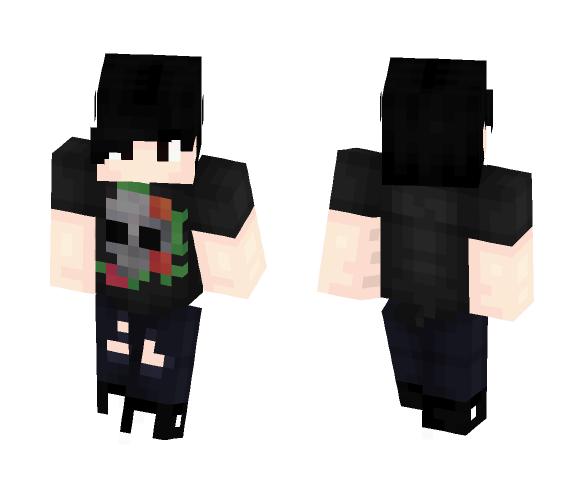 Skull Shirt ~ Emo - Male Minecraft Skins - image 1