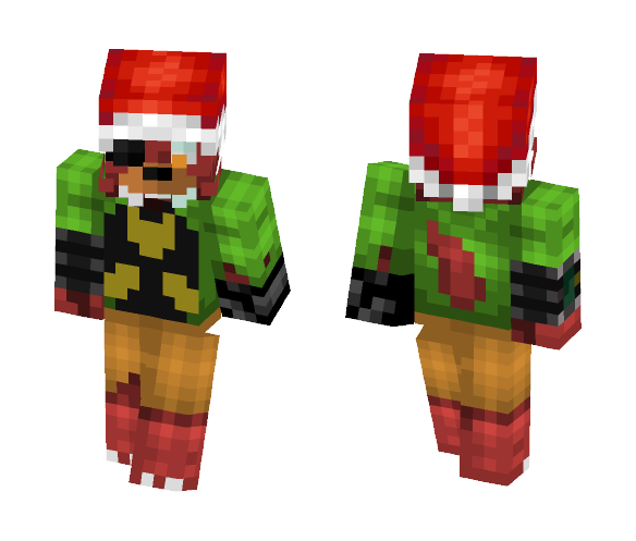 download christmas nuclear fox minecraft skin for free