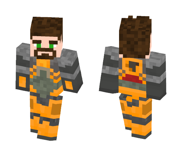 Gordon Freeman (HEV mark 5) - Male Minecraft Skins - image 1