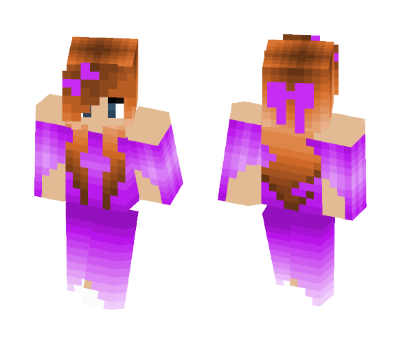 Download Girl (Pink Dress) Minecraft Skin for Free
