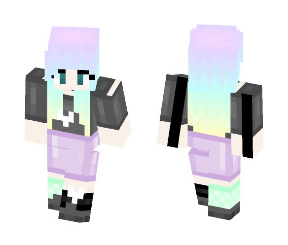 Pastel Colors - Female Minecraft Skins - image 1