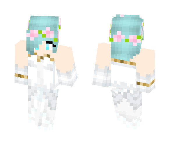 Katelyn in a Wedding Dress - Female Minecraft Skins - image 1