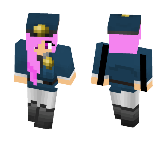 ❤Pink Haired Security Guard❤ - Female Minecraft Skins - image 1