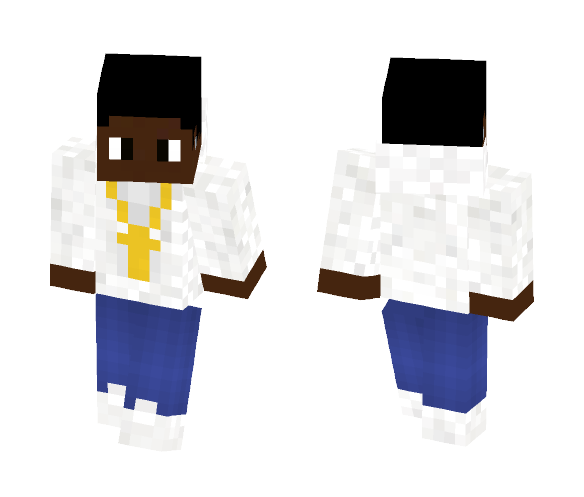 Download African American Guy With a Hoodie Minecraft Skin