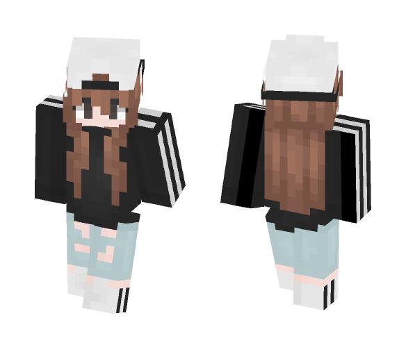 Chillin' ~ w/ Hat - Female Minecraft Skins - image 1
