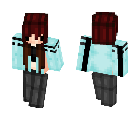 Red Haired Chibi Gal - Female Minecraft Skins - image 1