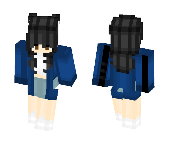 blue jacket ???? - Female Minecraft Skins - image 1