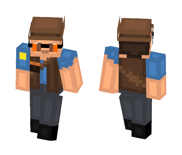 BLU Sniper | Team Fortress 2 - Male Minecraft Skins - image 1