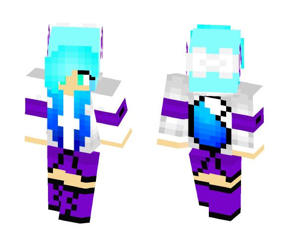 Light Bue Girl Fox - Girl Minecraft Skins - image 1