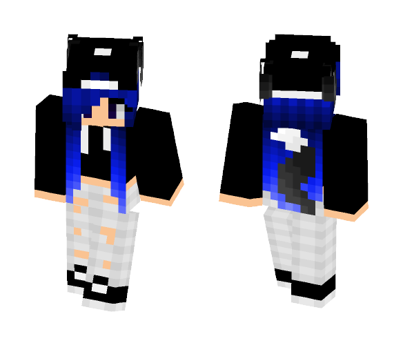 Download Blue Wolf Girl Minecraft Skin For Free