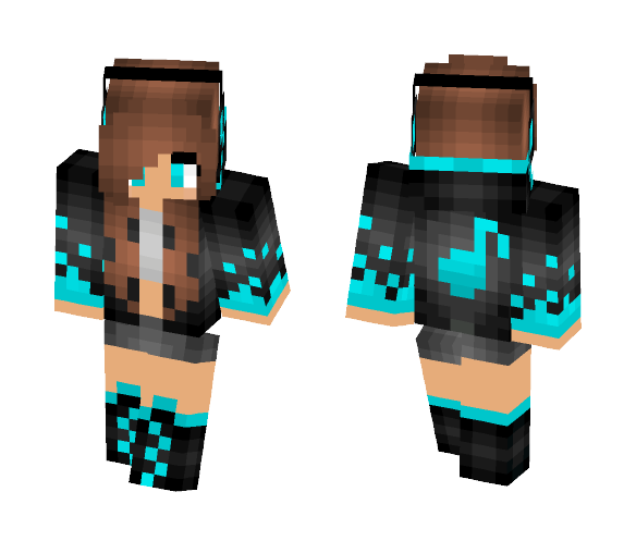 Music girl (I ran out of ideas:p) - Girl Minecraft Skins - image 1