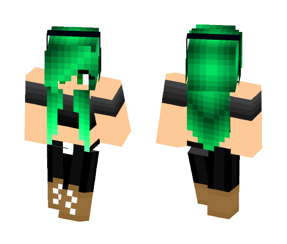Minecraft Skins: Download Cute Green Haired Girl Minecraft Skin For Free