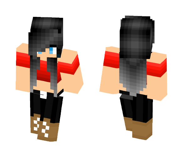 Cute Red Shirt - Female Minecraft Skins - image 1
