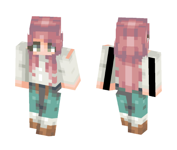 Cozy on a cold night - Female Minecraft Skins - image 1