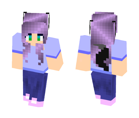 Download Purple Haired Werewolf Girl Minecraft Skin For Free Superminecraftskins