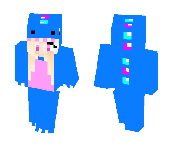 Witch in Her Blue Dino Pjs - Female Minecraft Skins - image 1