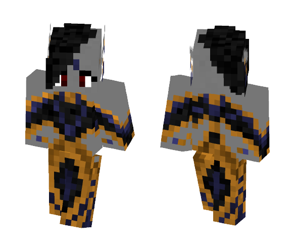 Dark Elven Noble - Wedding Outfit - Female Minecraft Skins - image 1