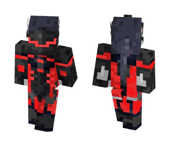 Red Carbon Fibre Genji - Male Minecraft Skins - image 1