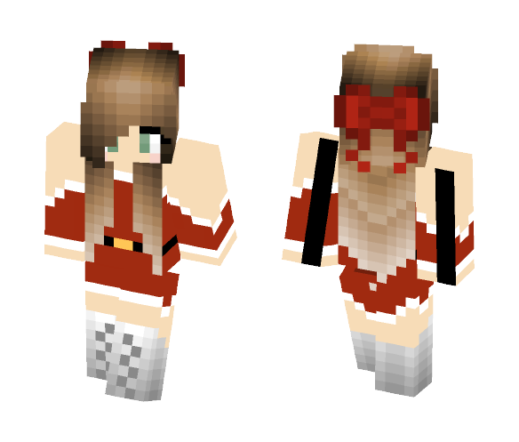 Christmas Minecraft Skin Girl.Download Christmas Girl With Bow Minecraft Skin For Free