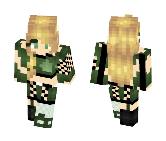 Green Arrow Fan girl - Skin Series - Female Minecraft Skins - image 1