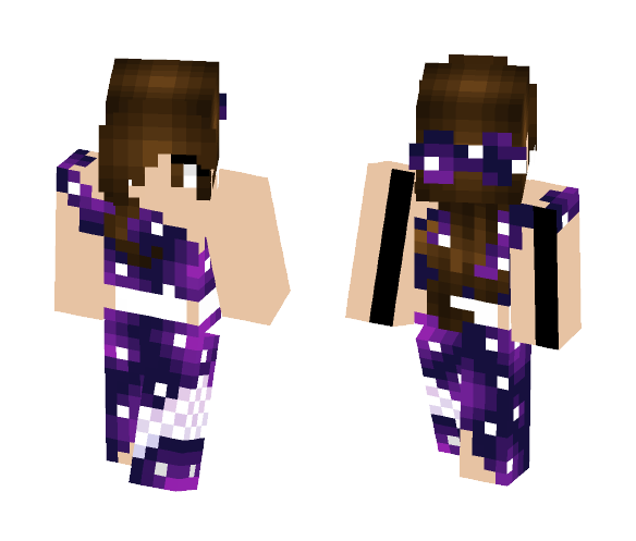 Galaxy Prom - Female Minecraft Skins - image 1