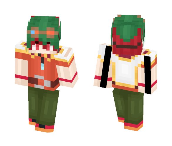 Download Sakaki Yuya Yugioh ArcV Minecraft Skin For Free - Skins para minecraft pe yugioh