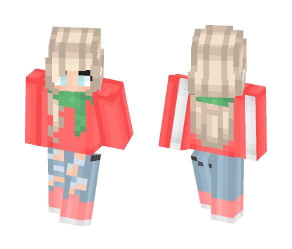 Christmas Minecraft Skin Girl.Download Cute Christmas Girl Minecraft Skin For Free