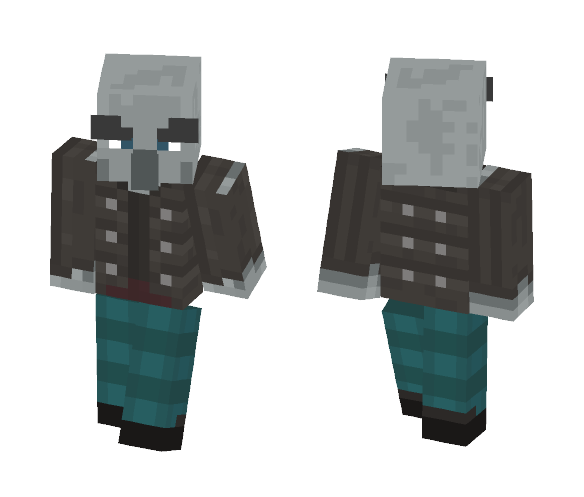 Illager Vindicator (Alex Template) - Other Minecraft Skins - image 1