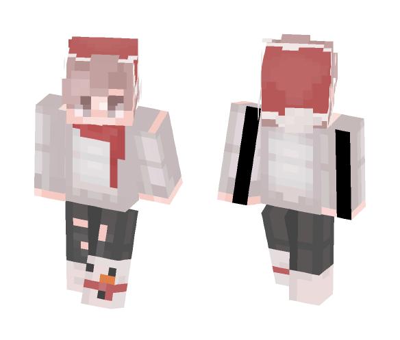 Kawaii Boy with santa hat - Boy Minecraft Skins - image 1
