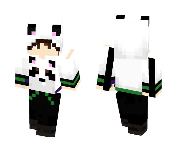 Download Panda Hoodie Boy Minecraft Skin for Free