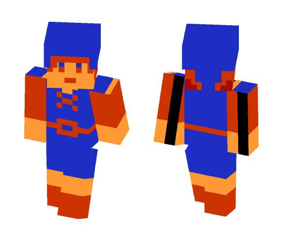 Legend of Zelda: 8 Bit Link (Blue) - Male Minecraft Skins - image 1