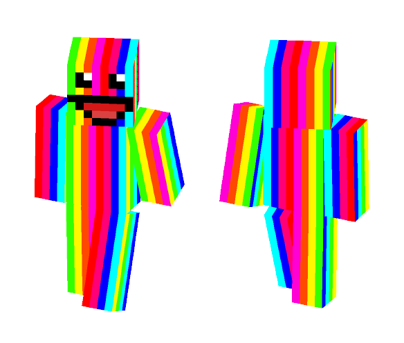RainBow Man (face edition) - Interchangeable Minecraft Skins - image 1